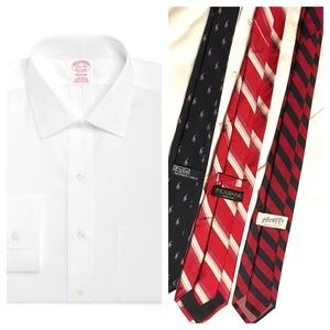 Brooks Brothers classic shirt 17-34 and tie bundle